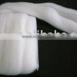 100% worsted combed rabbit top