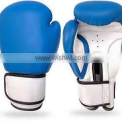 Leather competiton velcor fastener boxing gloves