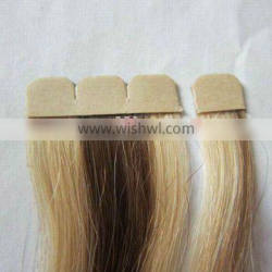 New using Double Tape Hair Extension,tape hair used with machine weft together