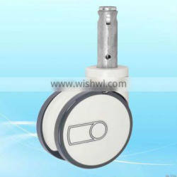 60mm wheel dia health care bed wheel twin-wheel medical casters