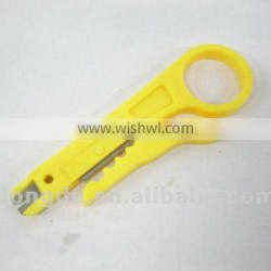 Easy wire stripper for 110 termination tool