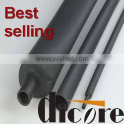 Double wall adhesive heat shrink tubing with glue