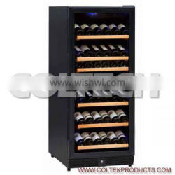 dual wine cooler,111 bottles