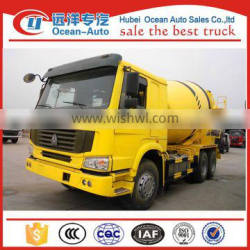 SINOTRUK HOWO 12cbm concrete mixer truck from factory for sale