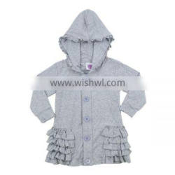 Wholesale 2016 ruffled kids outerwear baby girl long coats toddler girl coats
