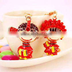 Chinese troditional made couple keyring wedding souvenirs keychain