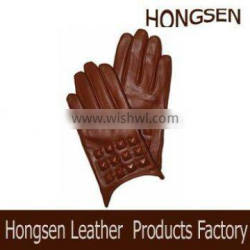 HS123 ladies leather gloves stylish