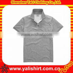 Custom comfortable fitness cheap short sleeve blank cotton grey casual men dri fit shirts