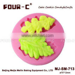 Stylised Leaves gum paste design moulds,silicone fondant cake art moulds,cake for mould