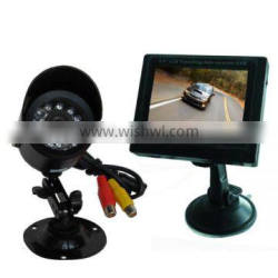 GTW car rearview video camera dvr with 3.45inch color LCD display