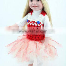 High quality full vinyl body doll girls gift 18 inch american girl dolls