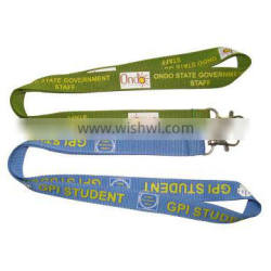 Cheap Multi Color Promotional Polyester Custom short Lanyard,Neck lanyard with cell phone loop.