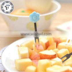 Cute sunflower shape stainless steel silicone fork