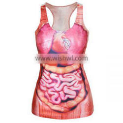 custom made printing sublimated bodybuilding tank top
