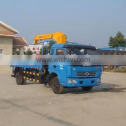 Dongfeng 4*2 5T Dump Truck With Crane