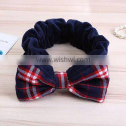Fashion Cute bowknot Bath Washing cotton Headband Makeup lint fabric Headband