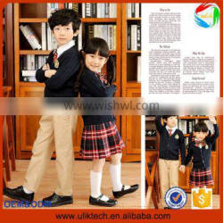 2015 Wholesale fashion uniform for school all grades european style child clothes outfits kids and teen school uniform(ulik-008)