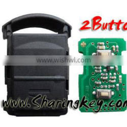 High Quality 2 Button Remote control 433MHZ For Opel Corsa C Combo B Meriva A