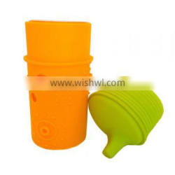 factory sale spillproof food grade silicone bottle cap with pantone color