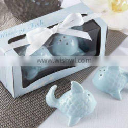 Kissing Fish Ceramic Salt and Pepper Shakers