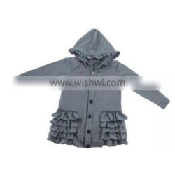 Wholesale 2016 fall warm ruffle hoodie baby girls' coat