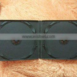 10mm black double leather wedding dvd case