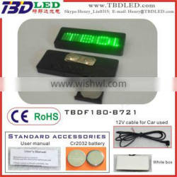 Rechargeable fashion led display screen mini led nameplate
