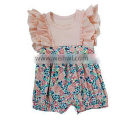 wholesale infant girls jumpsuits flower toddler baby bubbles petti rompers