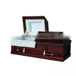 Infant wooden caskets and coffins burial products with blue interior