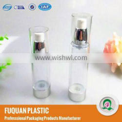 Plastic clear firming skin water airless bottles