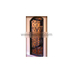 Wrought Iron Door with Low-E glass