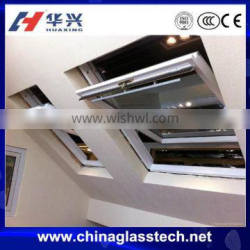 Size customized good sealing performance tempered glass aluminum profile roof window