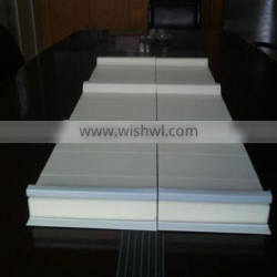 Colored steel and PU foam insulation board Structure for fencing material of building site