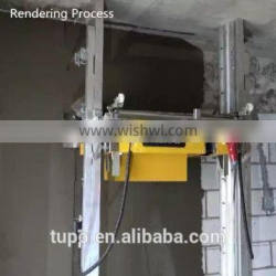 Construction machinery wall rendering machine with special aluminium alloy poles/cement motar plastering 200m2 per hour 220/380v