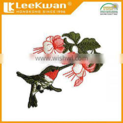 Sew-On Style and Patches Product Type Bird Flower Embroidered Patches