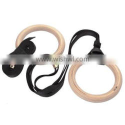 Wooden Gym Ring With straps in pair