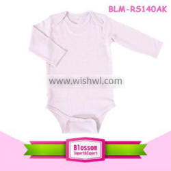 Boutique baby sleeves plain baby bodysuit 100%cotton kids carters soft romper for summer Supplier's Choice