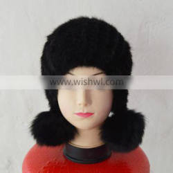 SJ924-02 New Design Earflap Fashion Mink Fur Hats and Caps