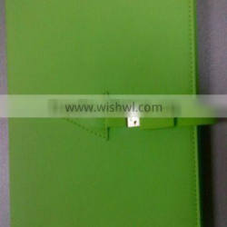 8GB capacity green leather usb notebook