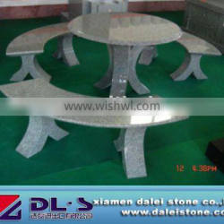 granite chairs and tables