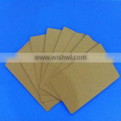 Golden pvc blank card