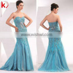 2014 new arrival evening dinner dress patterns of lace evening dress