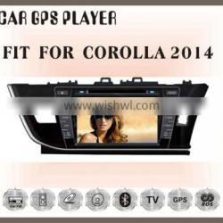 Fit for TOYOTA corolla 2014 8inch right drive double din car gps dvd