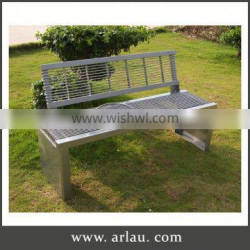 Arlau Metal Garden Benches,Purple Wrought Iron Outdoor Bench,Outdoor Cast Iron Flat Stainless Long Bench
