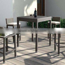 Evergreen Wicker Furniture - Poly Rattan Patio Bar Set