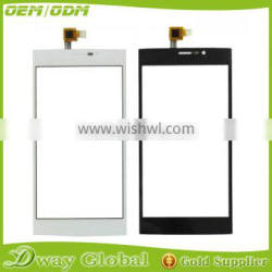 China supplier touch panel for wiko ridge fab 4g touch screen digitizer outer front glass with sensor