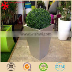 Large tall rectangular stainless steel flowerpot plant container