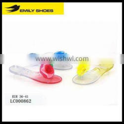 Lady's jelly sandal with flower
