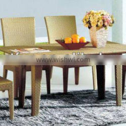 Aluminum wicker dining set