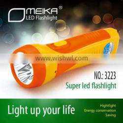Rechargeable led car lighter torch flashlight